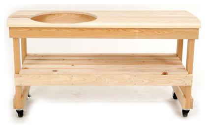 Big Green Egg Yxl4 Wooden Table Long For Xlhd Egg