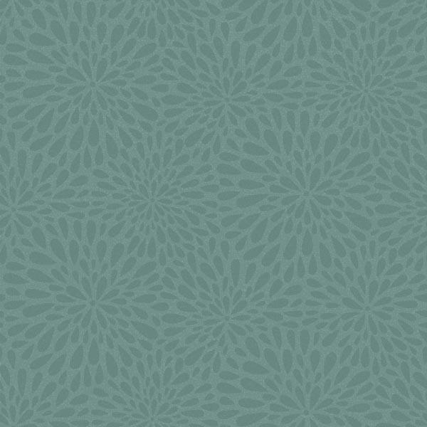 Calendula Teal Modern Floral Wallpaper Contemporary