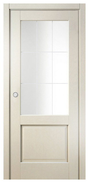 Sarto galant 7122 interior pocket door antique patina for Modern glass pocket doors