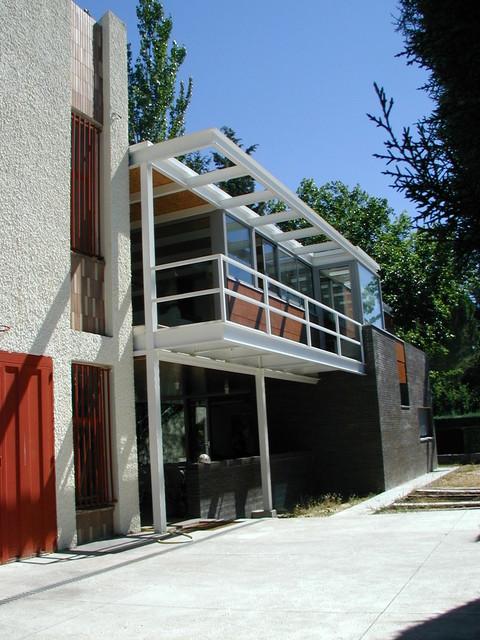 Viviendas unifamiliares contempor neo fachada madrid - Fachadas viviendas unifamiliares ...