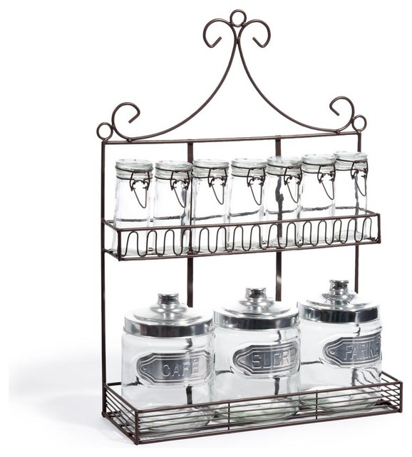 spice jar rack clectique bocal pices et porte pices par maisons du monde. Black Bedroom Furniture Sets. Home Design Ideas