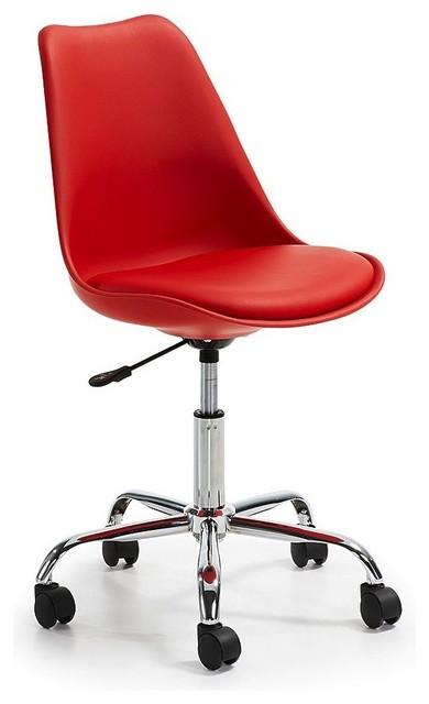 chaise roulettes design ocala couleur rouge moderne chaise de bureau par. Black Bedroom Furniture Sets. Home Design Ideas