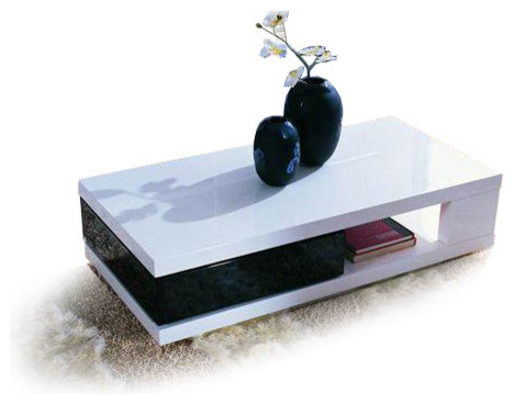 White Round Modern Coffee Table Furniture Ealing Solid Wood - White And Black Coffee Table CoffeTable