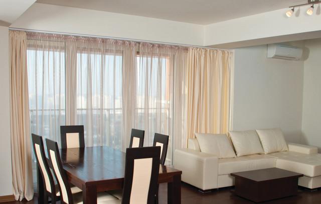 Peach Sheer Curtain Panels I Peach Drapes - Modern - Curtains - denver ...