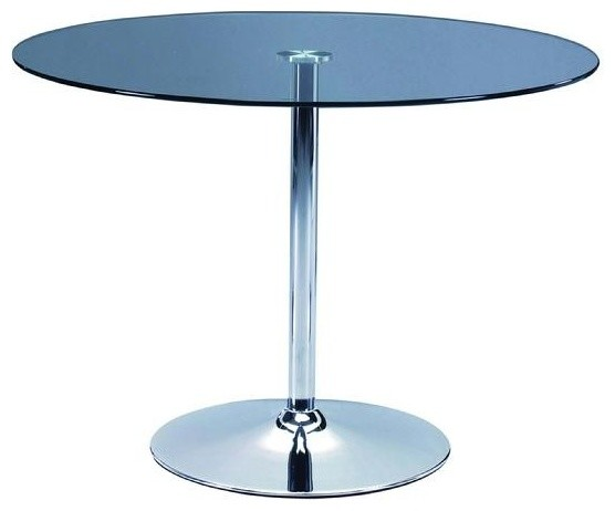 Round Dining Table With Glass Top Contemporary Dining Tables By