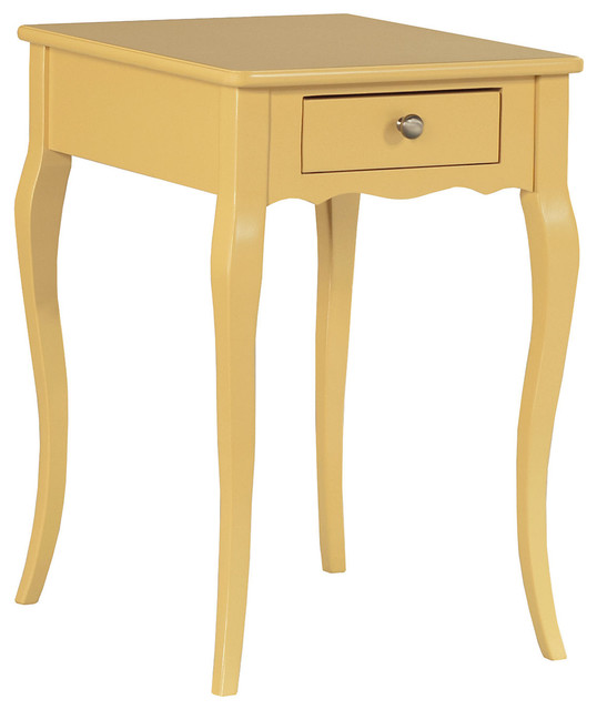 Jenna nightstand yellow contemporary console tables for Sofa table yellow