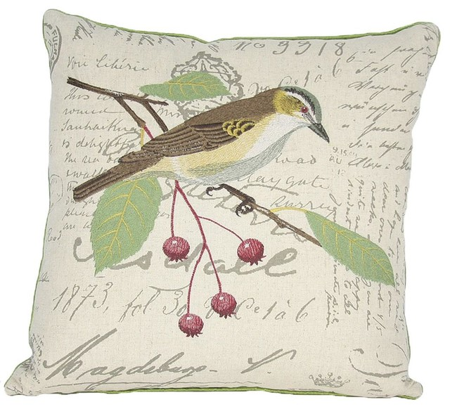Avian Collection Feather Down Filled Decorative Pillow