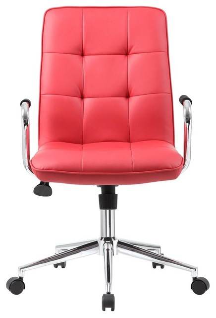 office chair in red contemporary office chairs by shopladder
