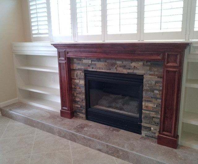 Built In With Mantel Traditional Fireplace Mantels Jacksonville By Elite Construction Of