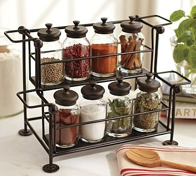 Counter Spice Rack Bronze Finish Traditional By