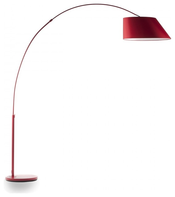 lampadaire design arc couleur rouge moderne lampadaire ext rieur par. Black Bedroom Furniture Sets. Home Design Ideas
