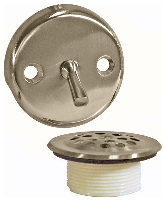 Trip Lever Tub Drain Trim Kit With Overflow Brushed