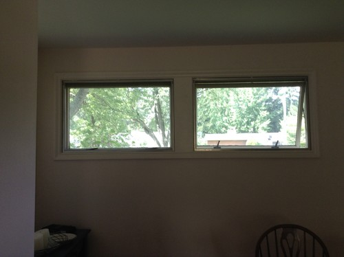 what type of window treatments work for awning windows