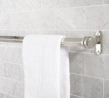 Covington Towel Bar 24 Polished Nickel Finish Traditional Towel Bars And Hooks By