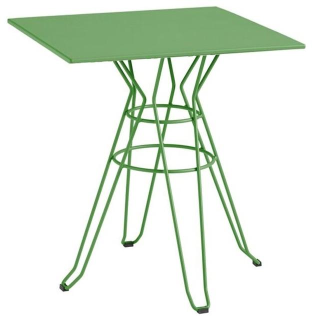 Table de jardin design carr e 90x90 alameda couleur vert - Table de jardin plastique vert saint paul ...