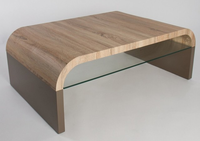 Table basse design omaha taupe contemporary coffee - Table basse rangements ...