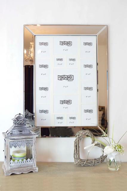 Mirrored photo frames multi