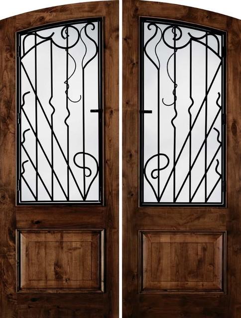 Jeld wen a1260 nouveau arch top knotty alder woodgrain - Jeld wen fiberglass exterior doors ...