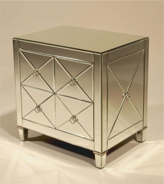 Mirrored Night Stand Nightstands And Bedside Tables