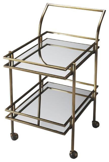 Gatsby Antique Brass Bar Cart Contemporary Bar Carts