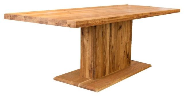 ozelot massivholz esstisch mit mittelfu modern dining tables by. Black Bedroom Furniture Sets. Home Design Ideas
