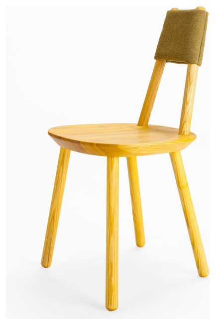 Emko naive dining chair yellow for Modern yellow dining chairs
