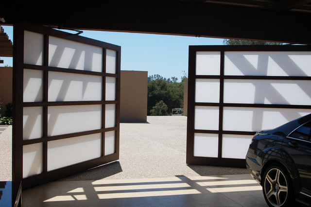 Full view glass custom garage bi parting door contemporary garage doors and openers san - Glass garage doors san diego ...