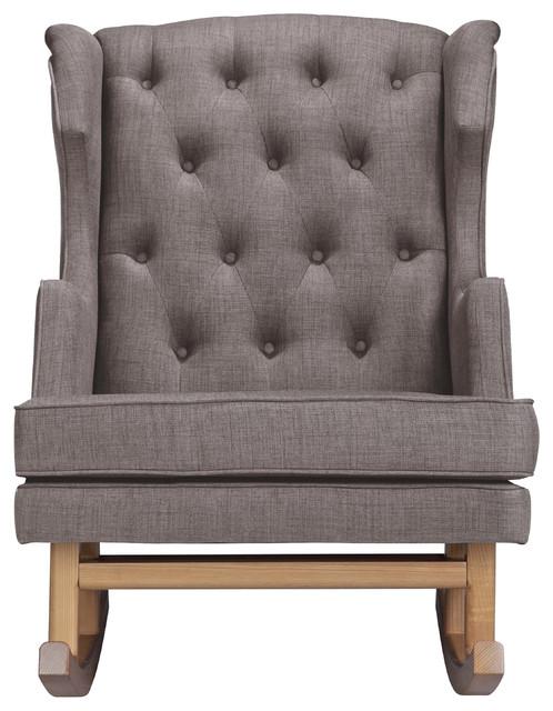 Empire Rocker, Pebble, Light Legs - Transitional - Rocking Chairs