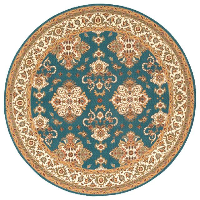 Momeni Rug Persian Garden 8' X 8' Round PG-01 Teal Blue