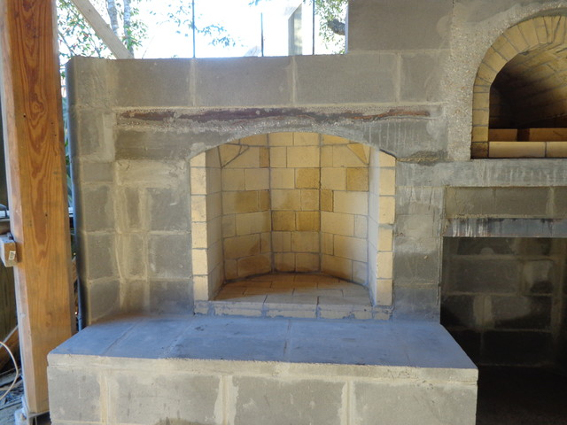 The Hammer Family Wood Fired Pizza Oven And Fireplace Combo In Louisiana Contemporary New