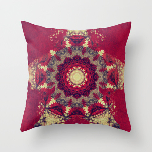 Throw Pillow Inserts 20 X 20 : MANDALA MATRIX THROW PILLOW / INDOOR COVER (20