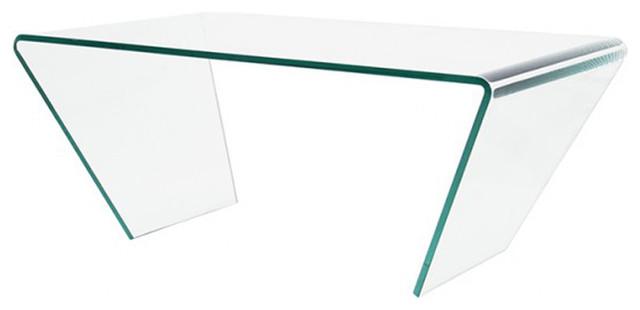 Petite table basse en verre design 90 cm contemporain for Petite table verre