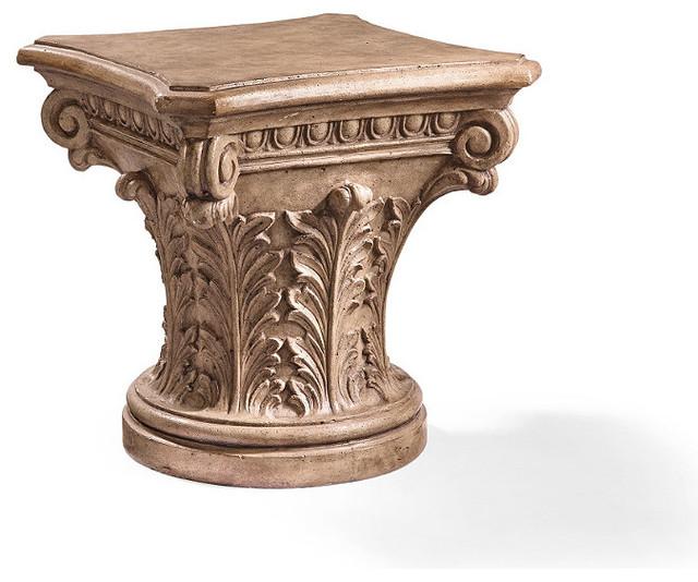 Outdoor Victorian Table: Corinthian Column Side Table