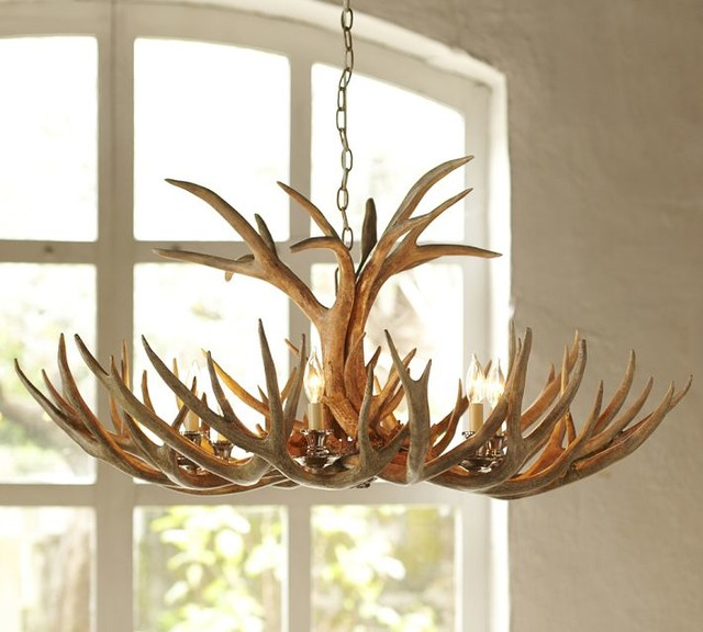 Faux Antler Chandelier Eclectic Chandeliers By