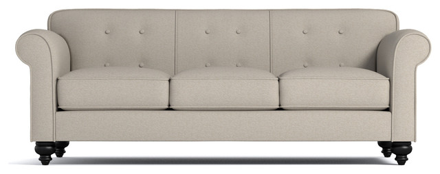 Pico Tufted Back Sofa Traditional Sofas By Apt2b
