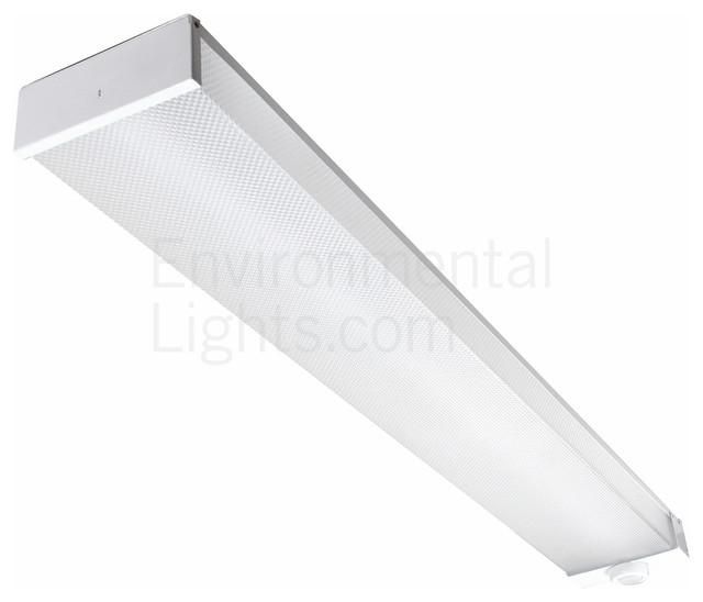 4 Foot Led Ceiling Light Fixture: MaxLite LSU4806SU35DV41 4 Foot LED Utility Wrap Fixture