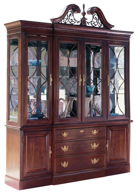 Kincaid Carriage House Solid Wood Breakfront China Cabinet - Traditional - China Cabinets And ...
