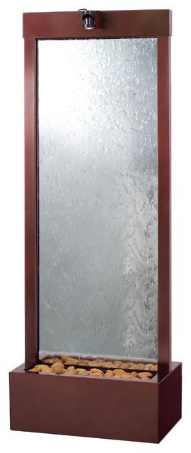bluworld 6 39 gardenfall indoor outdoor water fountain dark copper clear glass moderne. Black Bedroom Furniture Sets. Home Design Ideas