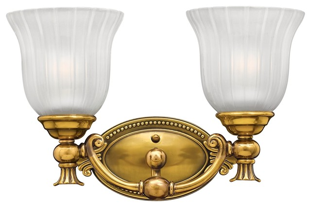 Hinkley Brass Wall Sconces : Hinkley Lighting Francoise Traditional Wall Sconce, Burnished Brass - Contemporary - Ceiling ...