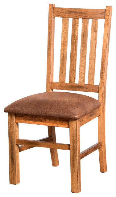 Sedona 4 Slat Dining Chair With Cushion Rustic Dining Chairs By Sunny D