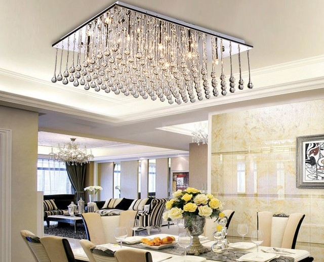 ... Chandelier with 12 LED lights in Crystal contemporary-ceiling-lighting
