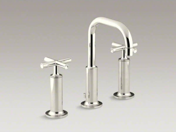 KOHLER Purist R Widespread Bathroom Sink Faucet With High Cross Handles And