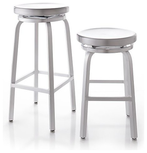 Spin Bar Stools Crate Amp Barrel Industrial Bar Stools