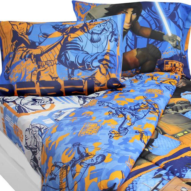 Star Wars Full Bedding Set Rebels Fight Comforter Sheets