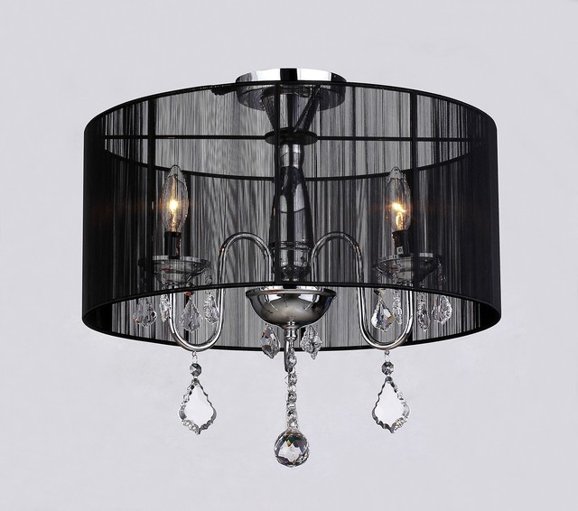 Round Chandelier With Crystals
