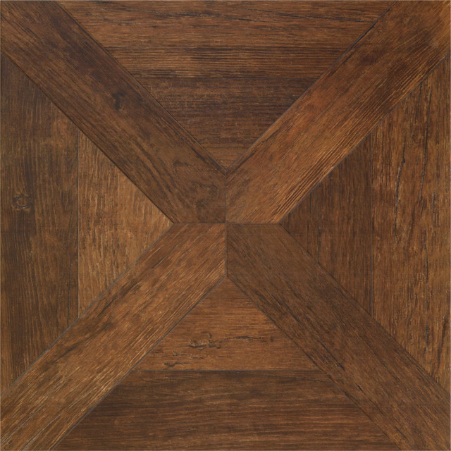 Vintage Parquet Wood Look Tile Flooring - Traditional ...