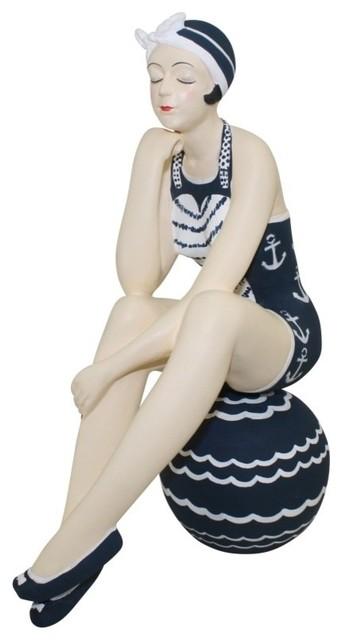 Dr Livingstone I Presume Furniture Bathing Beauty Figurine by Dr Livingstone I Presume - Beach Style ...