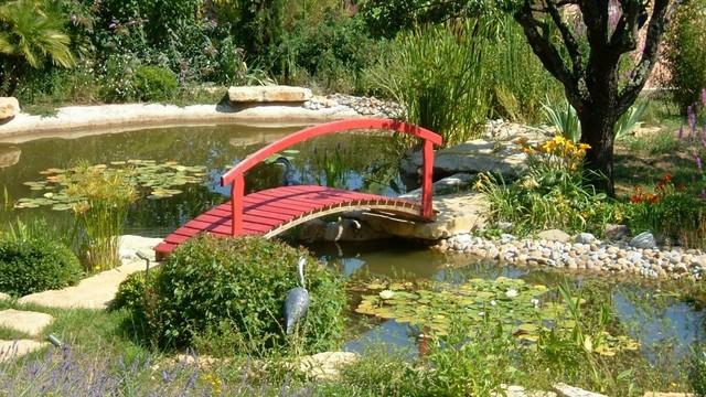 Ambiance jardin japonais avec plan d 39 eau for Plan jardin japonais