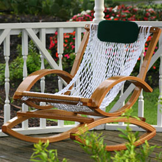Deluxe Bent Oak Rocker Eclectic Outdoor Lounge Chairs Other by hammoc