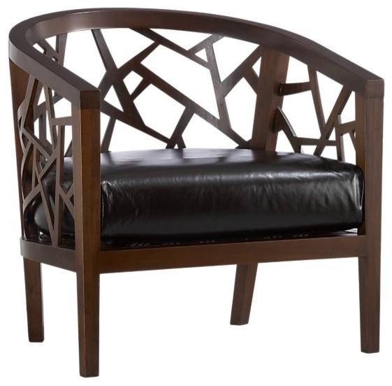 Ankara Chair With Leather Cushion Contemporary